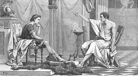 Alessandro Magno e Aristotele