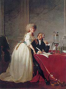 Lavoisier con la consorte
